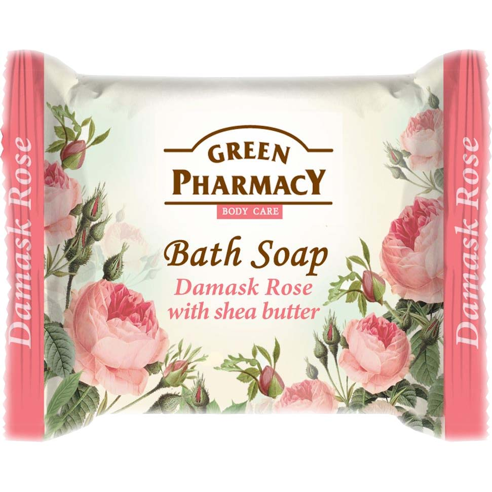 Bath soap DAMASK ROSE with shea butter / Туалетное мыло Дамасская роза с маслом карите100g