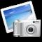 Икона-крест в пластиковой рамке/ 8х8 см, с липкой лентой