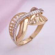 Золотое кольцо. Желтое золото & Фианиты