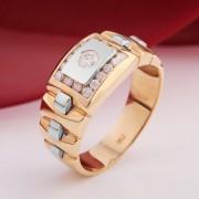 Перстень мужской. Русское золото & Бриллианты