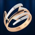 Кольцо золотое. Эмаль